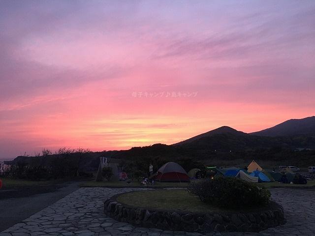 大島キャンプ場夕陽