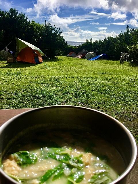 キャンプ飯朝食