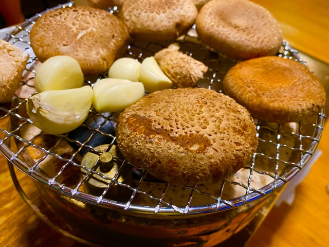 八丈島椎茸の炭火焼き