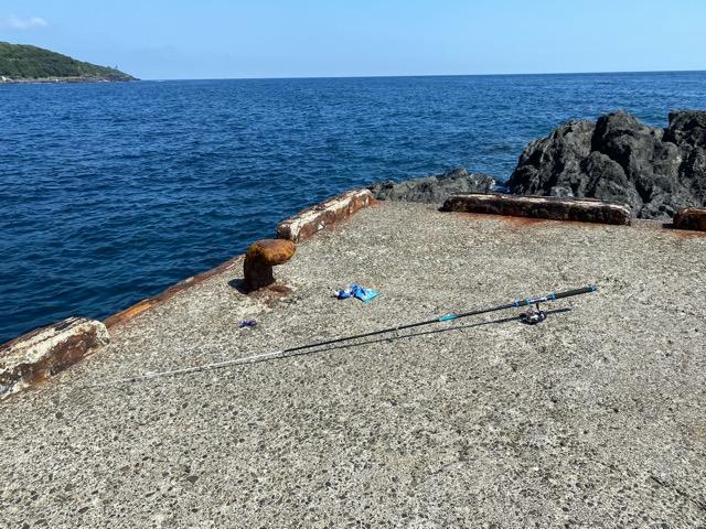 メメズ浜釣り