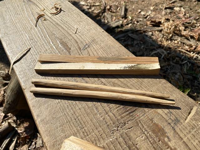 クラフトで箸を作ったよ